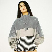 [20% 할인] [AJOBYAJO] Over Stripe Anorak (Black/Ivory)