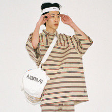 [20% 할인] [AJOBYAJO] Over Stripe Reglan Pique Shirt (Beige)