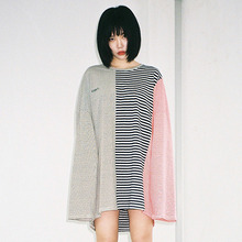 [20% 할인] [AJOBYAJO] Stripe Long Sleeve T-Shirt (Khaki/Navy/Red)