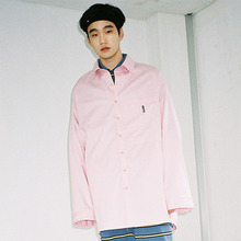 [20% 할인] [AJOBYAJO] Over Solid Two Pocket Shirt (Pink)