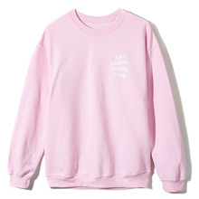 [Anti Social Social Club] Know You Better Crewneck [2017S/S] - Pink