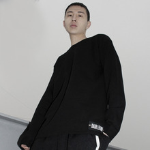 [Dair Len Mode] Oversize long sweat shirt (black)