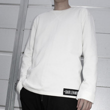 [Dair Len Mode] Oversize long sweat shirt (white)