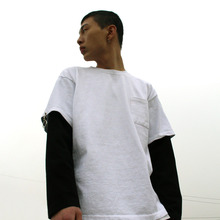 [DAIR LEN MODE] Layered pocket tee (white)