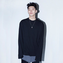 [Noizy Company] BASIC LONG SLEEVE T_BLACK