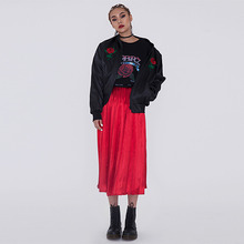 [50%세일][CITYBREEZE] SATIN PLEATS SKIRT RED