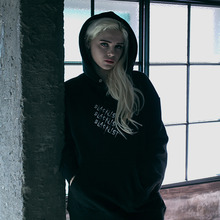 [EINEN]Blacklist Triple Slash Hoodie Sweatshirts Black