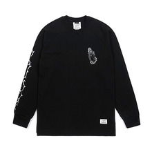 [STIGMA]JESUS LONG SLEEVES T-SHIRTS - BLACK