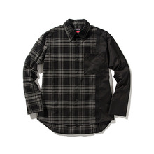 [ANTIMATTER]Check Coloration Shirt-Black