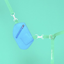 [위빠남] LEATHER CROSS BAG + BELT(LIGHT BLUE)