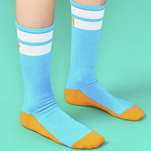 [위빠남] OUI PANAME LINE SOCKS(LIGHT BLUE)