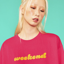 [위빠남] WEEKEND T-SHIRT(FUSCHIA PINK)