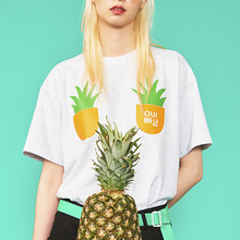 [위빠남] PINEAPPLE T-SHIRT(MELANGE GREY)