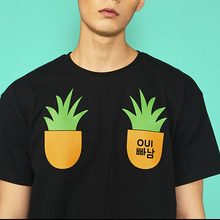 [위빠남] PINEAPPLE T-SHIRT(BLACK)