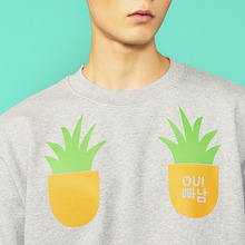 [위빠남] PINEAPPLE SWEATSHIRT(MELANGE GREY)