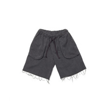 [OVERR] TOME.2 DAMAGE SHORT PANTS - GRAY
