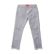 [OVERR] 17S/S PIGMENT DAMAGE PANTS - GRAY