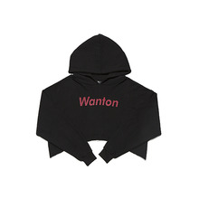 [WANTON] vol.1 crop hoody black