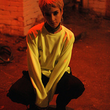 [GOZER] SIDE ZIP CREW TOP_FLUORESCENT