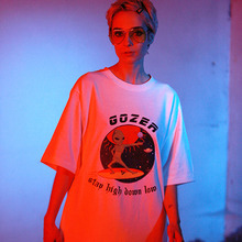 [GOZER] ALIEN SURFIN TEE_WHITE