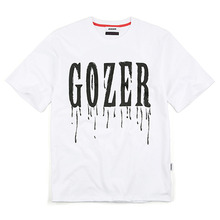 [GOZER] CRY PRINT TEE_WHITE
