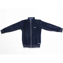 [OURHISTORY]Velour Zipup Jacket_Navy