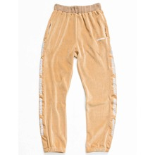 [OURHISTORY]Velour pants_Beige