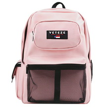 [60%sale][VETEZE] Retro Leather Sport Backpack - Baby Pink