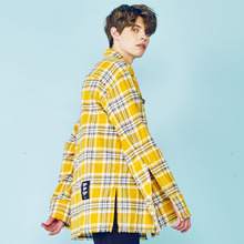 [HEICH BLADE] CHECK FLANNEL SHIRTS - YELLOW