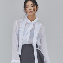 [SALON DE SEOUL] Woman Modern Frill Blouse - White