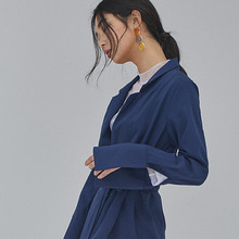 [SALON DE SEOUL] Woman Double Jacket Blouse - Navy