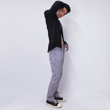 [NERD]Stripe Long Pants - Black