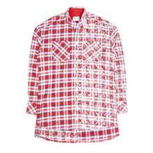 [20%할인][SAINTSHOW] HALF FADED FLANNEL SHIRT - RED
