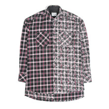 [20%할인][SAINTSHOW] HALF FADED FLANNEL SHIRT - BLACK