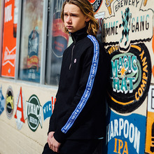 [Bornchamps] BC TAPE SWEATSHIRTS - BLACK
