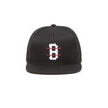 [BLACKSCALE] B LOGO RED LINE SNAP BACK BLACK