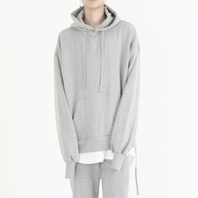 [Nar_Yoke] Overfit Two-way Hoodie - Gray