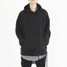 [Nar_Yoke] Overfit Two-way Hoodie - Black