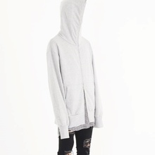 [Nar_Yoke] 2way Full Zip Hodie - Gray