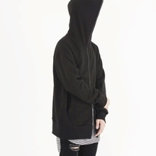 [Nar_Yoke] 2way Full Zip Hodie - Black