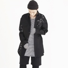 [Nar_Yoke] Overfit Shirt - Black/White