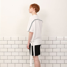 [A PAPER CUT] (30%할인)Side Ribbon Tee - White