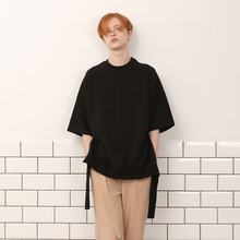 [A PAPER CUT] (30%할인)Back Ribbon Tee - Black