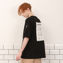 [A PAPER CUT] (30%할인)Back Patch Tee - Black