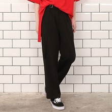 [A PAPER CUT] (30%할인)Belt Wide Pants - Black