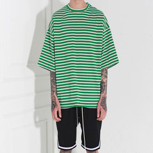 [Burj Surtr] Stripe Box T-Shirt Green