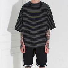 [Burj Surtr] Stripe Box T-Shirt Navy