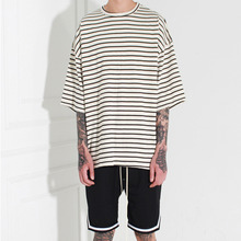 [Burj Surtr] Stripe Box T-Shirt ivory