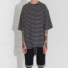 [Burj Surtr] Stripe Box T-Shirt Black