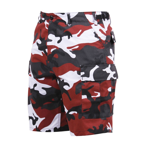 [Rothco] Colored Camo BDU Shorts - Red Camo